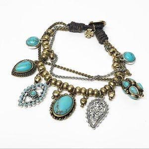 Lucky Brand • Turquoise Charm Bracelet